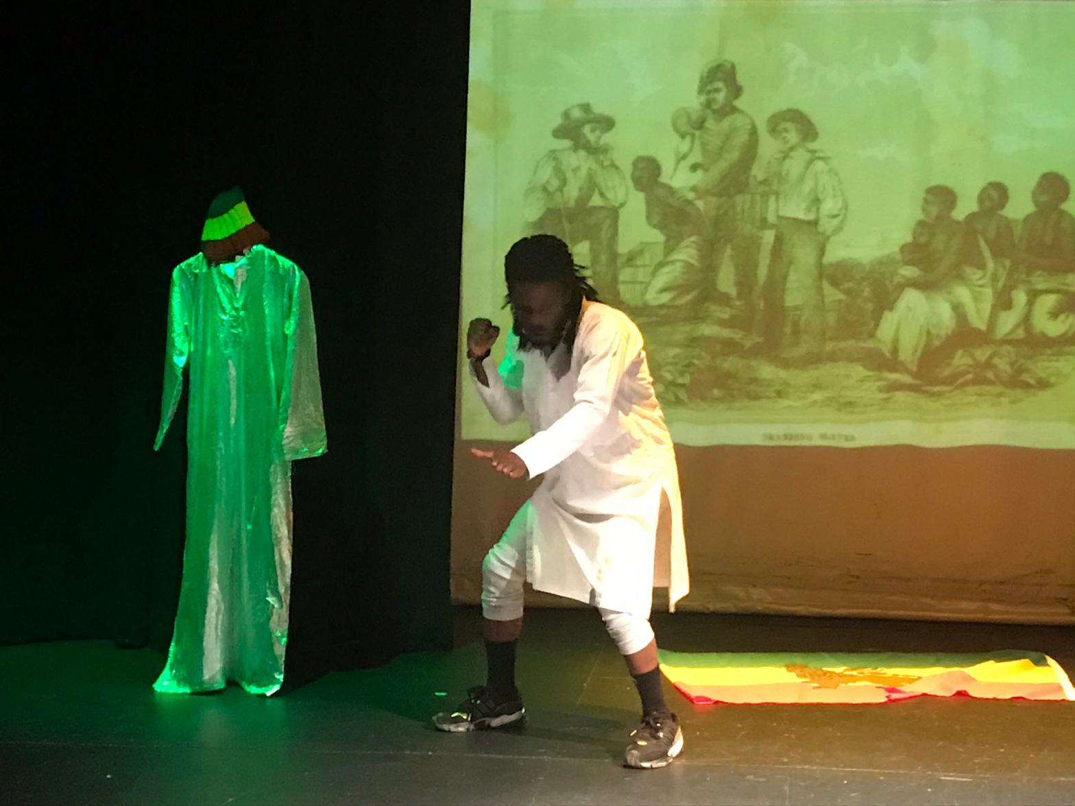 Marcus Hercules on stage at Salford Arts theatre